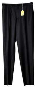 Joseph Abboud Mens Regular Fit Trouser/Wide Leg Jeans-Dark Rinse