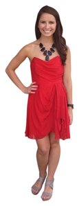 Shoshana short dress red Strapless Gameday Party Sorority on Tradesy