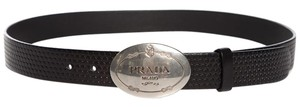 Prada Prada Black Leather Belt