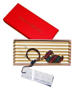 Dooney & Bourke Plaid Duck Key Ring