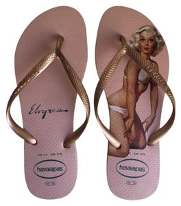 Havaianas Slim Pink Rose Pink/Rose Gold Sandals