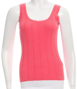 Chanel Interlocking Cc Logo Top Pink