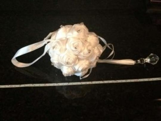 White 12*-rhinestone Flower Balls Reception Decoration