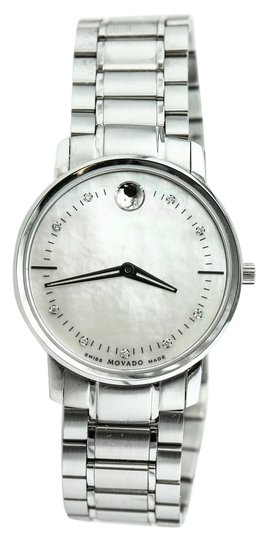 Preload https://img-static.tradesy.com/item/19057684/movado-stainless-steel-393141210-diamonds-mother-of-pearl-dial-ladies-watch-0-1-540-540.jpg