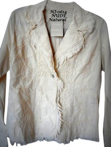 Lirome Bohemian Country Cottage Nude Womens Jean Jacket