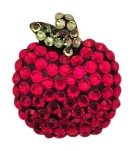 Other Bedazzled Big Apple Hair Clip