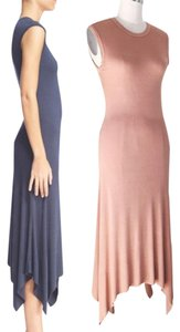 Peach Beige Maxi Dress by Enza Costa Jersey Maxi Fitted Tank