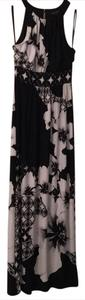 Black, white, grey Maxi Dress by White House | Black Market Maxi Floral And