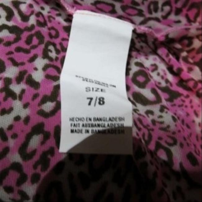 Other New Size 7/8 Sheer Pink Leopard Print