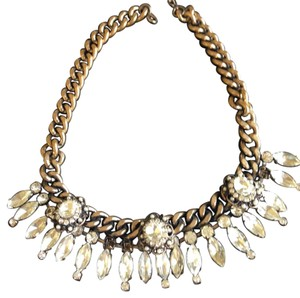 BaubleBar Heavy Gold/Gemstone Statement neck