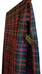 authentic Scotish Made In Skirt plaid -- red, green and navy blue