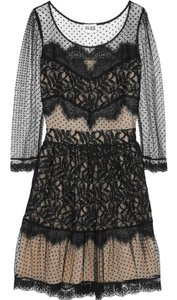 ALICE by Temperley Lace Mesh Polka Dot Dress