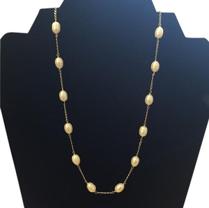 Other 14 Karat Gold Pearl Necklace