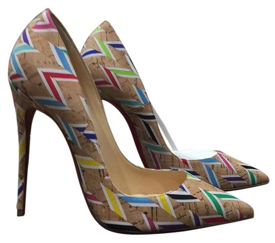 Preload https://img-static.tradesy.com/item/19059352/christian-louboutin-beige-so-kate-cork-chevron-multi-color-stiletto-pumps-size-eu-36-approx-us-6-reg-0-1-540-540.jpg