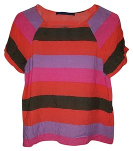 Zara Top Multi-colored Stripes