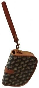 Dooney & Bourke Anniversary Flap Wristlet in tan multi