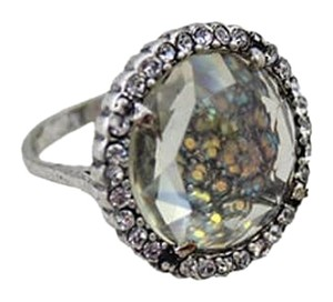 Iridescent Pave Stone Crystal Ring