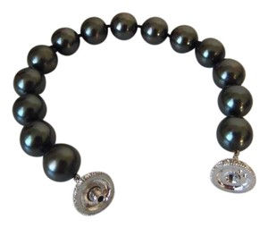 Pearlfection Pearlfection Faux Black South Sea Pearl Bracelet 8.5