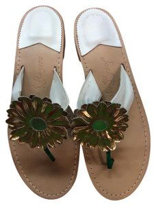 Jack Rogers White/gold Sandals