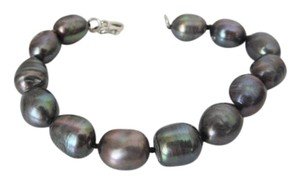 Pearlfection Pearlfection Faux Black Tahitian Peacock Baroque Pearl Bracelet