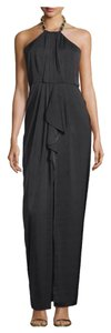BCBGMAXAZRIA Milania Chain-neck Halter Gown Dress