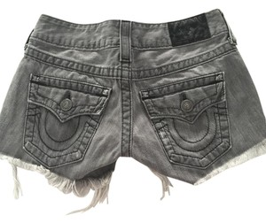 True Religion Cutoff Likenew Cut Off Shorts Grey Denim