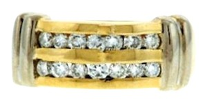 STEAL-1/2 ct diamond gold band wedding engagement anniversary bridal