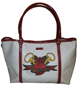 Gucci Tote in White and Red