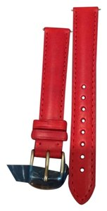 Michele NWT MICHELE Red Calf Skin Strap 16MM MS16AA270600
