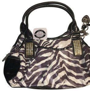Kathy Van Zeeland Satchel in Black and White