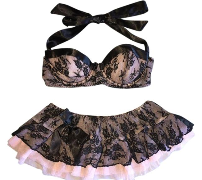 Item - Pink and Black Lace Sexy Lingere'