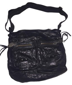 Juicy Couture Leather Messenger Black Messenger Bag