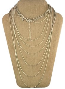 Banana Republic Banana Republic Silver Multi strand cascading necklace
