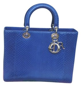 Dior Lady Tote in Blue as in picture
