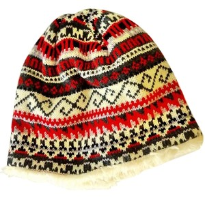 Halogen Nordic pattern, faus-fur lined, dense knit, warm and comfortable