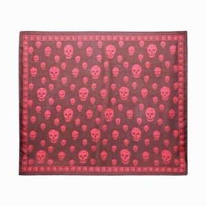Alexander McQueen Alexander Mcqueen Silk Skull Print Scarf New With Tags