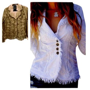 Lirome Bohemian Country Cottage Summer Spring Vintage Pine Womens Jean Jacket