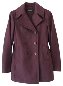 Kenneth Cole Reaction Wool Double-breasted Mauve Pea Coat