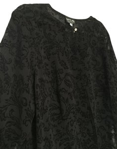Onyx Nite Lace Floral Top Black