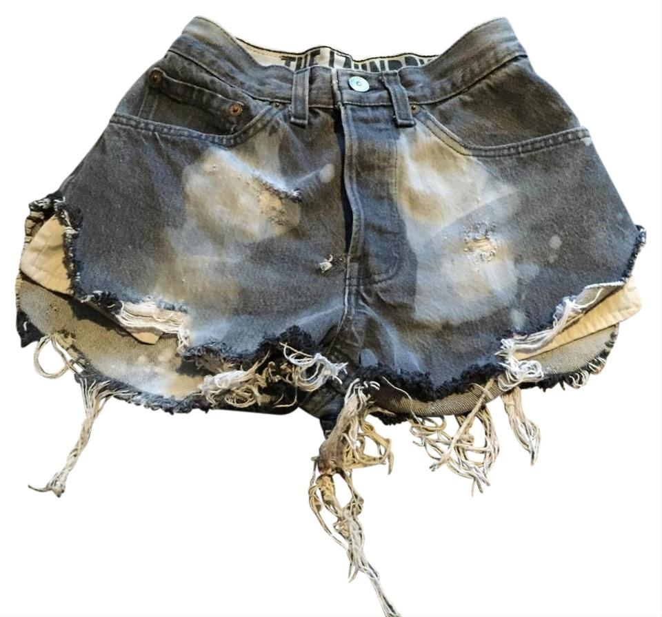 patch pocket jean shorts