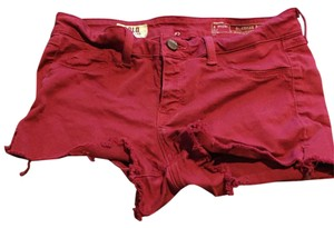 SOLD Design Lab Cut Off Shorts Red