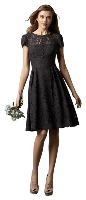 Preload https://img-static.tradesy.com/item/19062097/watters-and-watters-bridal-charcoal-4257-knee-length-cocktail-dress-size-12-l-0-1-650-650.jpg
