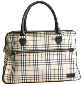 Burberry Blue Label Brown Check Diaper Bag