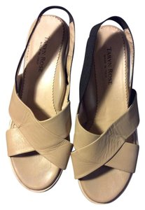 Taryn Rose Beige and Black Wedges