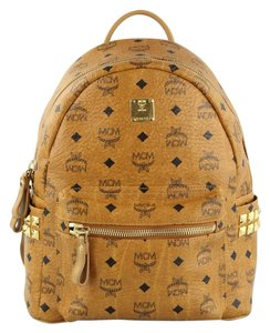 MCM Canvas Mini Small Gold Backpack