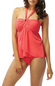 Coco Reef COCO REEF~Coral ST. BARTHS STAR DRAPED Convertible Bra TANKINI TOP~36C