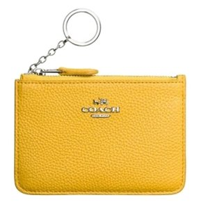 Coach COACH Key Pouch in Polished Pebble L