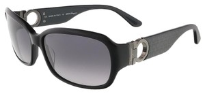 Salvatore Ferragamo Salvatore Ferragamo Black Rectangular Sunglasses