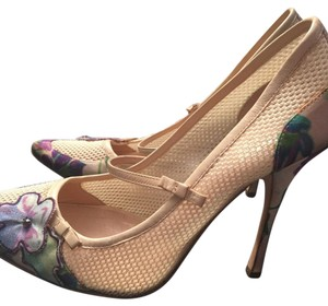 Roberto Cavalli Creme/purple/multi Pumps