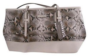 Dana Buchman Snake Satchel in Beige Brown
